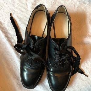 Zara black loafers